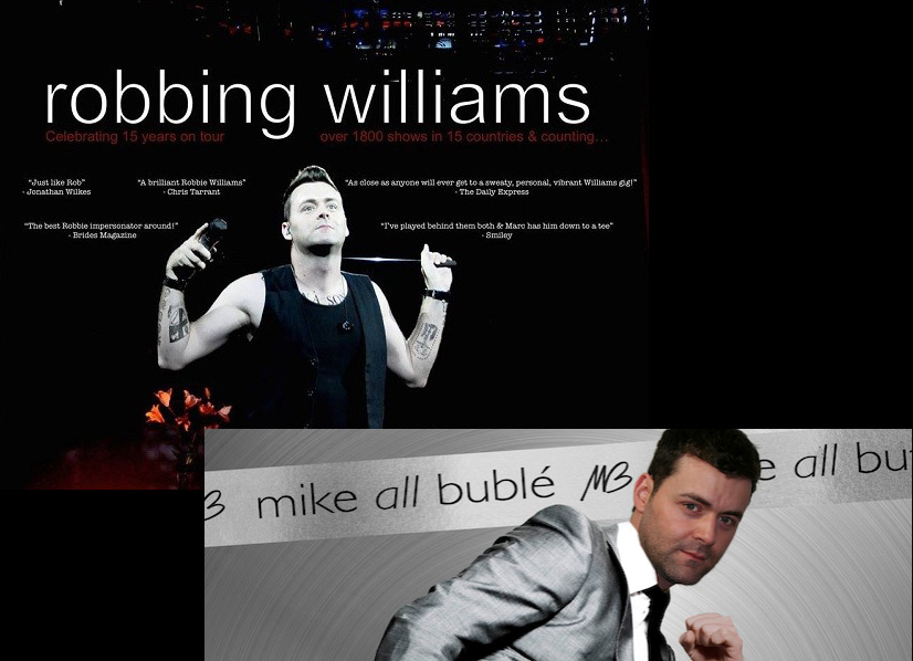 Tribute act Robbie Williams and Michael Buble