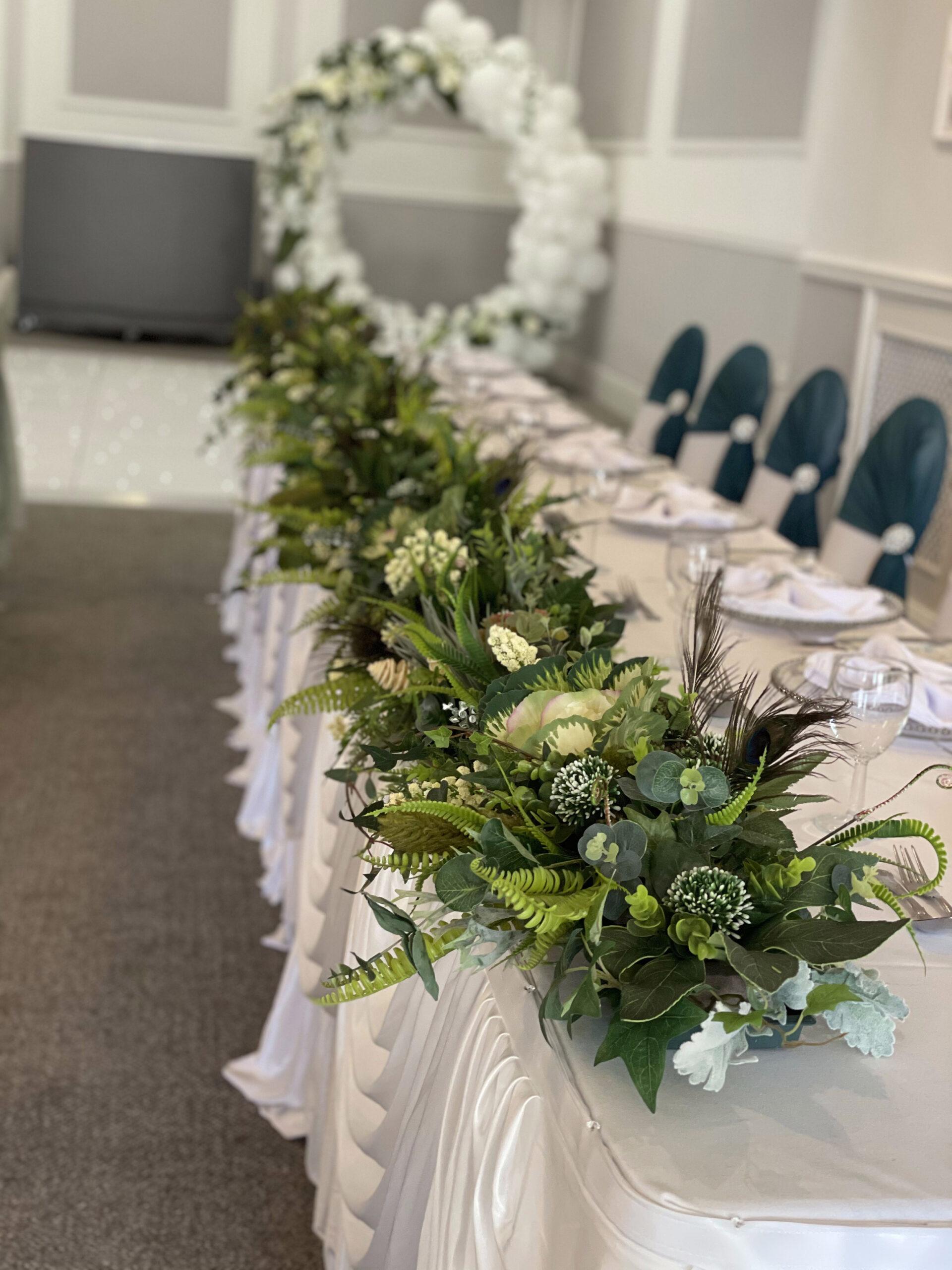 Manor Park Wedding Table Centres